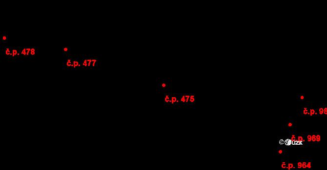 Nivnice 475 na parcele st. 2068/12 v KÚ Nivnice, Katastrální mapa