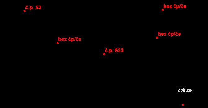 Slavonice 633 na parcele st. 1262 v KÚ Slavonice, Katastrální mapa