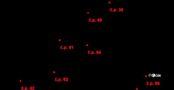 Děhylov 94 na parcele st. 50 v KÚ Děhylov, Katastrální mapa