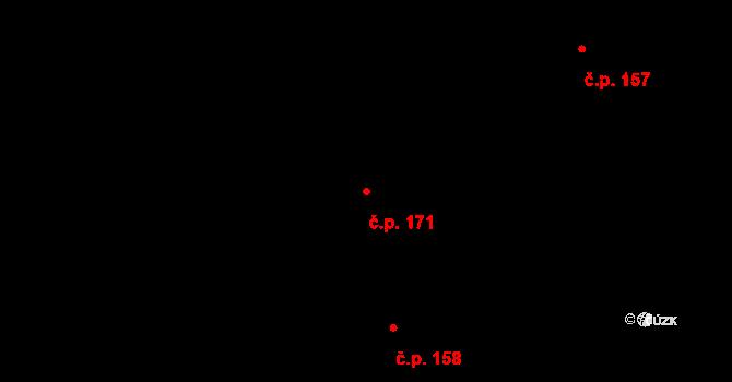 Karlín 171, Praha na parcele st. 340 v KÚ Karlín, Katastrální mapa