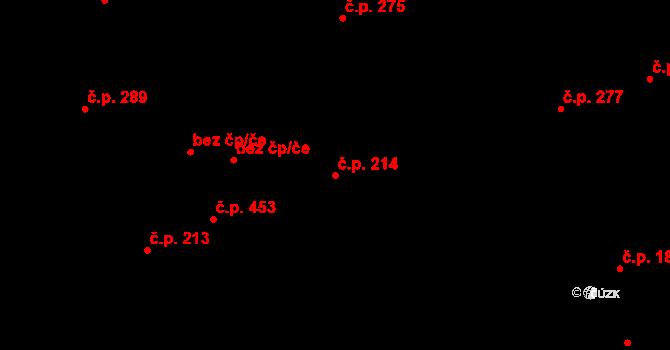 Buštěhrad 214 na parcele st. 966 v KÚ Buštěhrad, Katastrální mapa
