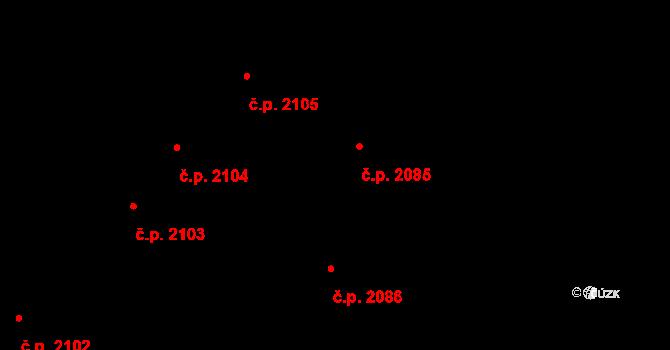 Jihlava 2085 na parcele st. 4407 v KÚ Jihlava, Katastrální mapa