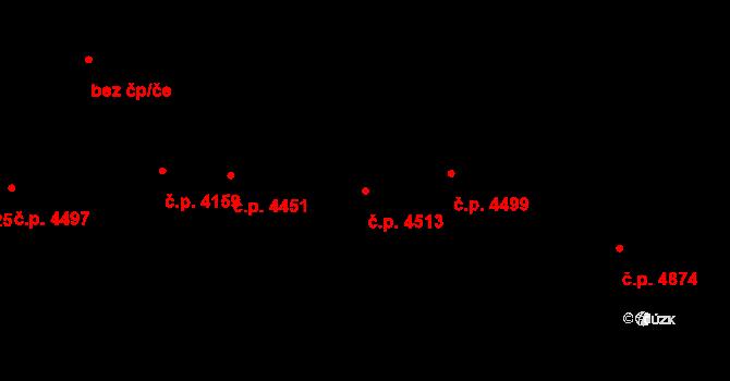 Jihlava 4513 na parcele st. 5385/3 v KÚ Jihlava, Katastrální mapa