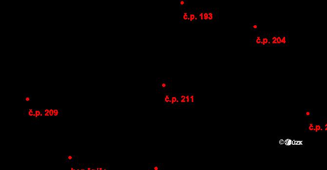Dražkovice 211, Pardubice na parcele st. 621 v KÚ Dražkovice, Katastrální mapa