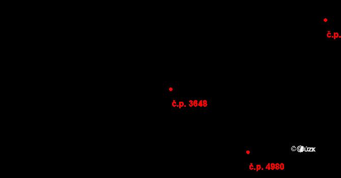 Zlín 3648 na parcele st. 3970 v KÚ Zlín, Katastrální mapa