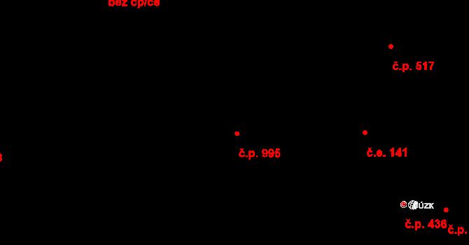 Vejprnice 995 na parcele st. 685/3 v KÚ Vejprnice, Katastrální mapa