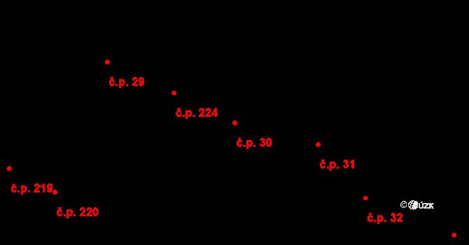 Slavonice 30 na parcele st. 379/1 v KÚ Slavonice, Katastrální mapa