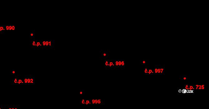 Vršovice 996, Praha na parcele st. 702 v KÚ Vršovice, Katastrální mapa