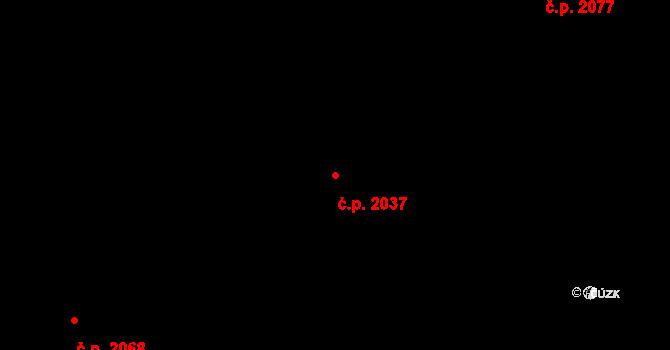 Mariánské Hory 2037, Ostrava na parcele st. 2589/1 v KÚ Mariánské Hory, Katastrální mapa