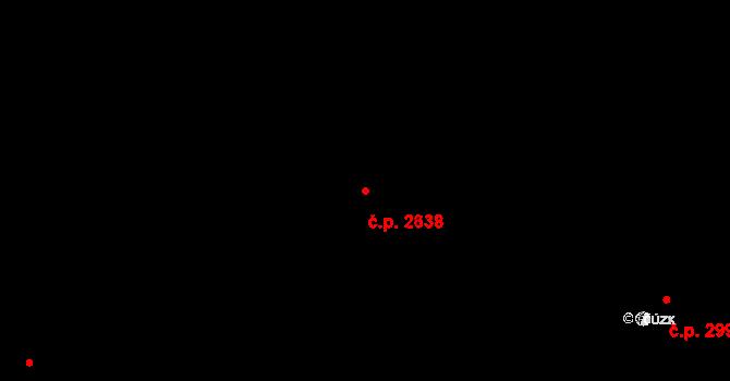 Louny 2638 na parcele st. 3855/27 v KÚ Louny, Katastrální mapa