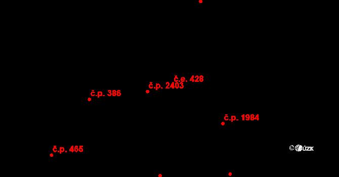 Aš 428 na parcele st. 3273 v KÚ Aš, Katastrální mapa