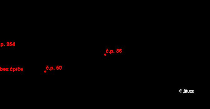 Řež 56, Husinec na parcele st. 85 v KÚ Husinec u Řeže, Katastrální mapa