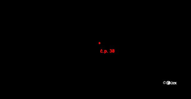 Chrastová Lhota 38, Brněnec na parcele st. 52 v KÚ Chrastová Lhota, Katastrální mapa