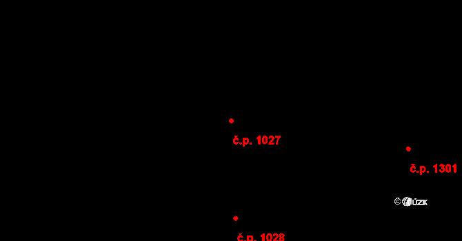 Bystrc 1027, Brno na parcele st. 7876/1 v KÚ Bystrc, Katastrální mapa