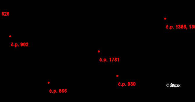 Vlašim 1781 na parcele st. 2889 v KÚ Vlašim, Katastrální mapa