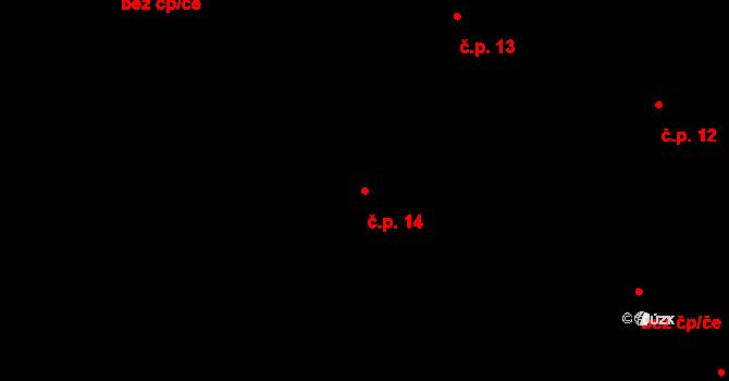 Řečice 14, Blatná na parcele st. 298/1 v KÚ Blatná, Katastrální mapa