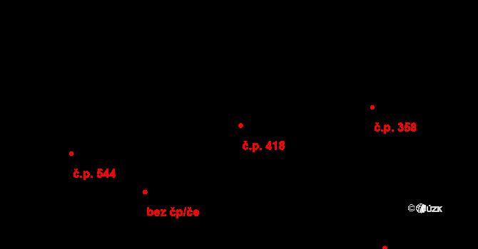Liberec VII-Horní Růžodol 418, Liberec na parcele st. 937 v KÚ Horní Růžodol, Katastrální mapa