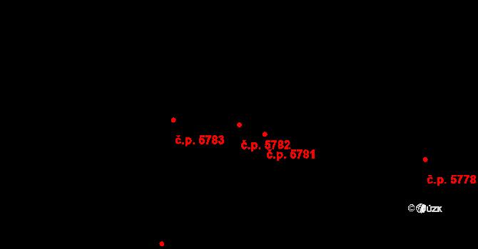 Jihlava 5782 na parcele st. 1074/95 v KÚ Jihlava, Katastrální mapa