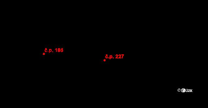 Studánka 227 na parcele st. 344 v KÚ Studánka u Tachova, Katastrální mapa
