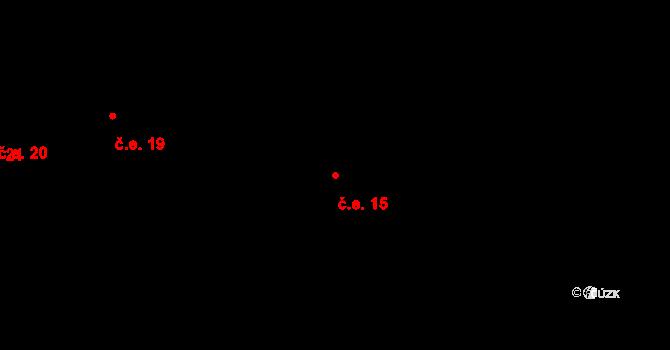 Staré Hory 15, Jihlava na parcele st. 159 v KÚ Staré Hory, Katastrální mapa