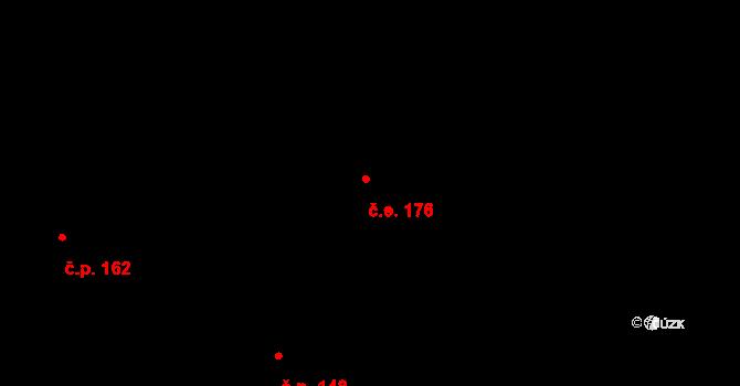 Malenovice 176 na parcele st. 510 v KÚ Malenovice, Katastrální mapa