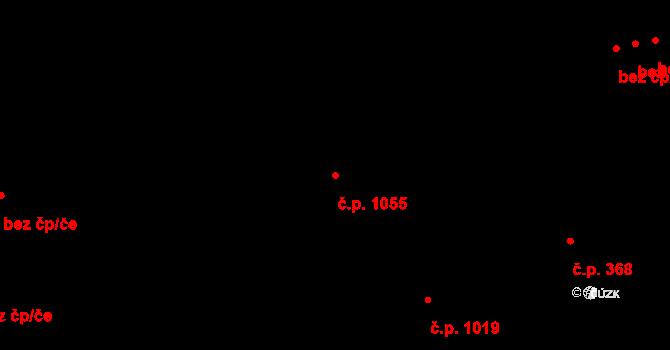 Žižkov 1055, Praha na parcele st. 162 v KÚ Žižkov, Katastrální mapa