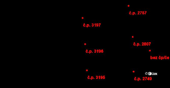 Havlíčkův Brod 3196 na parcele st. 4987 v KÚ Havlíčkův Brod, Katastrální mapa