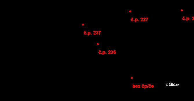 Pohled 236 na parcele st. 359 v KÚ Pohled, Katastrální mapa