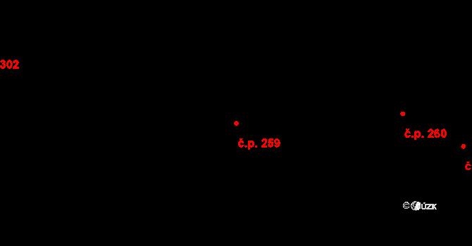 Malá Strana 259, Praha na parcele st. 19 v KÚ Malá Strana, Katastrální mapa