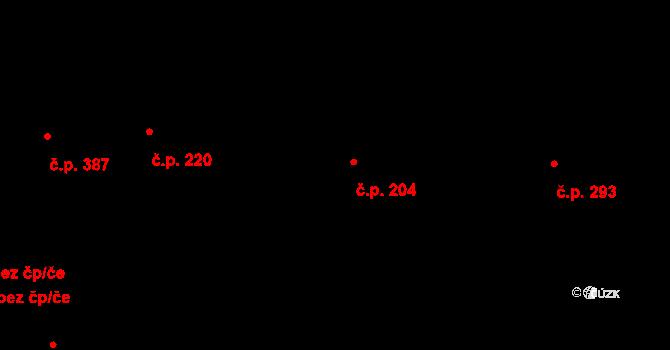 Davle 204 na parcele st. 851 v KÚ Davle, Katastrální mapa