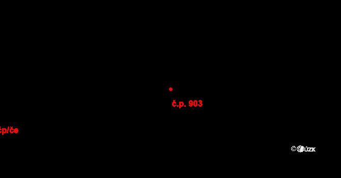 Hloubětín 903, Praha na parcele st. 2654 v KÚ Hloubětín, Katastrální mapa