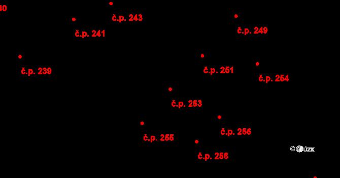 Lednice 253 na parcele st. 683 v KÚ Lednice na Moravě, Katastrální mapa