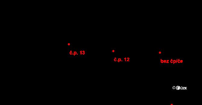 Horní Město 12 na parcele st. 27 v KÚ Horní Město, Katastrální mapa
