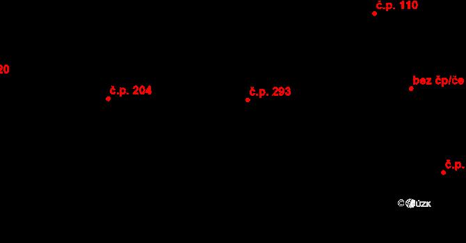 Davle 293 na parcele st. 1030 v KÚ Davle, Katastrální mapa