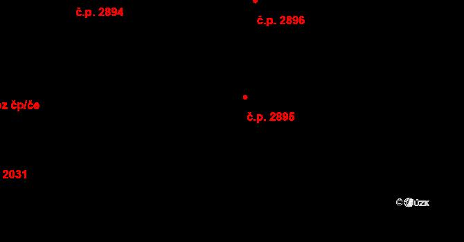 Havlíčkův Brod 2895 na parcele st. 2566 v KÚ Havlíčkův Brod, Katastrální mapa