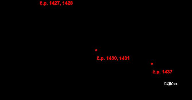 Kateřinky 1430,1431, Opava na parcele st. 2249 v KÚ Kateřinky u Opavy, Katastrální mapa