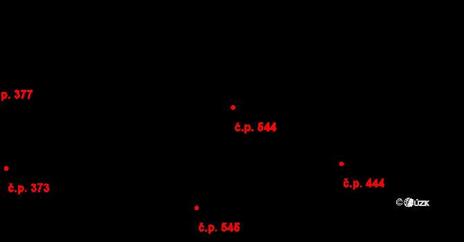 Slavonín 544, Olomouc na parcele st. 555/7 v KÚ Slavonín, Katastrální mapa