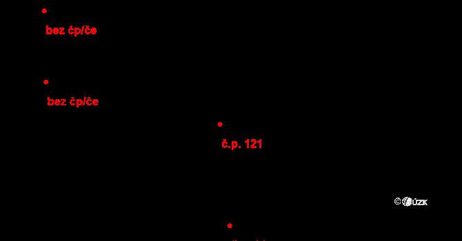 Teplice nad Metují 121 na parcele st. 99/2 v KÚ Teplice nad Metují, Katastrální mapa