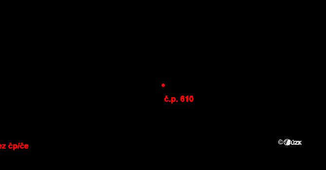 Doudlevce 610, Plzeň na parcele st. 254/78 v KÚ Doudlevce, Katastrální mapa