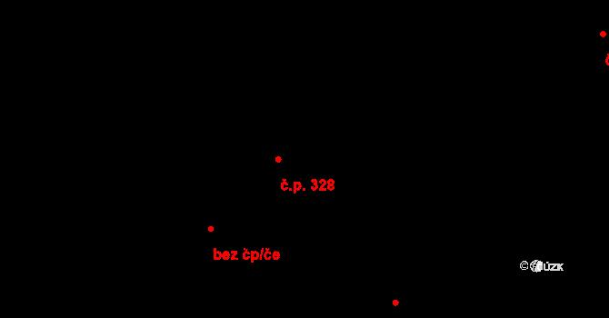 Hradec nad Svitavou 328 na parcele st. 421 v KÚ Hradec nad Svitavou, Katastrální mapa