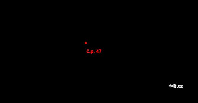 Horní Ostrovec 47, Ostrovec na parcele st. 44 v KÚ Horní Ostrovec, Katastrální mapa
