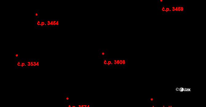 Frýdek 3608, Frýdek-Místek na parcele st. 5388/40 v KÚ Frýdek, Katastrální mapa
