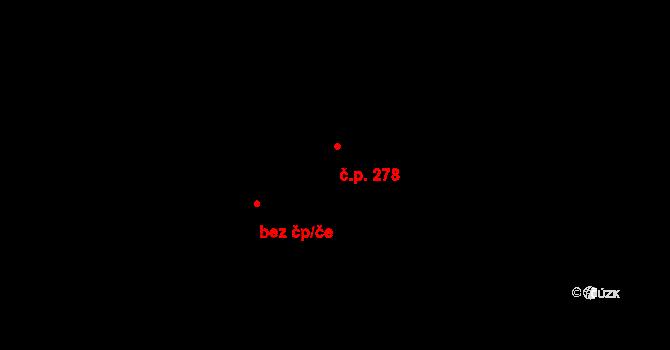 Bílý Potok 278 na parcele st. 361 v KÚ Bílý Potok pod Smrkem, Katastrální mapa
