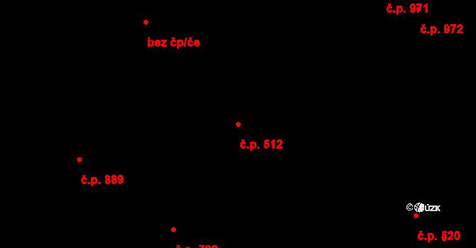 Liberec XIV-Ruprechtice 512, Liberec na parcele st. 407/1 v KÚ Ruprechtice, Katastrální mapa