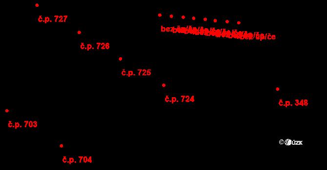 Přímětice 724, Znojmo na parcele st. 1377 v KÚ Přímětice, Katastrální mapa