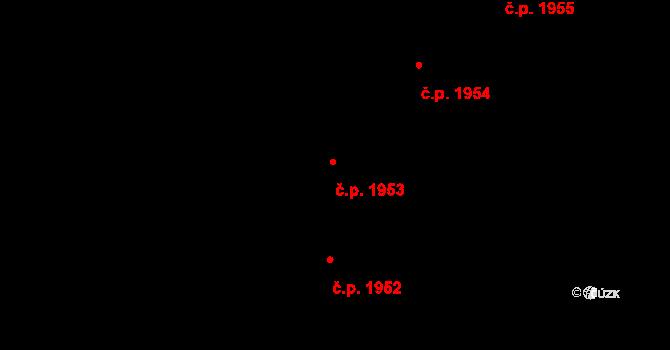 Stodůlky 1953, Praha na parcele st. 2131/261 v KÚ Stodůlky, Katastrální mapa