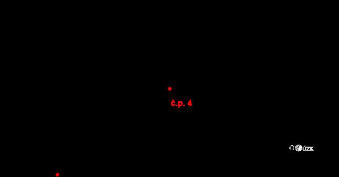 Buková Lhota 4, Benešov na parcele st. 219/2 v KÚ Úročnice, Katastrální mapa