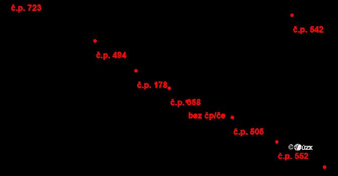 Lednice 358 na parcele st. 1134 v KÚ Lednice na Moravě, Katastrální mapa