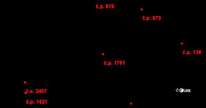 Zlín 1761 na parcele st. 2340 v KÚ Zlín, Katastrální mapa