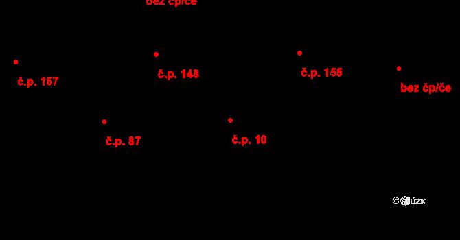 Závada 10 na parcele st. 270 v KÚ Závada u Hlučína, Katastrální mapa